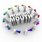 Word of Mouth - with Bullhorns — Stock Photo
