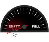 Running on Empty - Fuel Gauge — Stock Photo