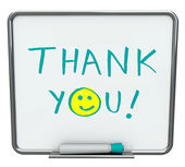 Thank You on Dry Erase Board — Zdjęcie stockowe
