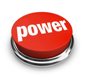 Power - Red Button — Stock Photo