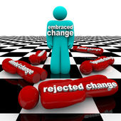 Embrace or Reject Change — 图库照片