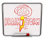 Brainstorm - Dry Erase Board with Red Marker — Stock Photo