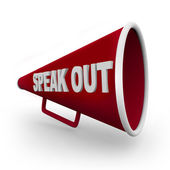 Speak Out - Red Bullhorn — Stock Photo