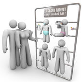 Instant Family Model Kit — Stock Photo