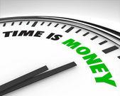 Il tempo è denaro - orologio — Foto Stock