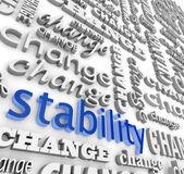 変化の真っ只中の安定性を見つけること — ストック写真