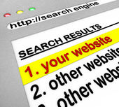 Resultados do search engine - o site número um — Foto Stock