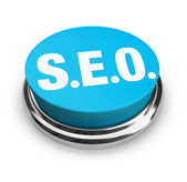 SEO - Blue Button — Stock Photo