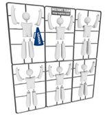 Instant team - snapin tillsammans modell kit — Stockfoto