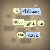 A Visionary Sees Light in the Dark — Stock Photo