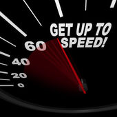 Get Up to Speed - Speedometer — Stock Photo