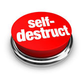 Self-Destruct - Red Button — Stock Photo