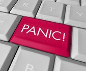 Panic Button on Computer Keyboard — Stock Photo