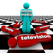 New Media vs. Old Media - The Battle is Won — Stock Photo