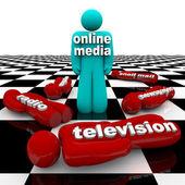 New Media vs. Old Media - The Battle is Won — Stock Photo