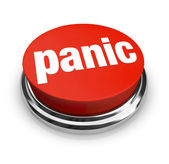 Panic - Red Button — Stock Photo