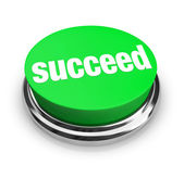 Succeed - Green Button — Stock Photo