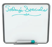 Today's Special - Blank White Dry Erase Board — Stock Photo