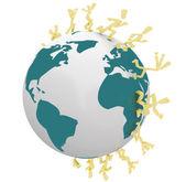 Racers lopen rond de hele wereld — Stockfoto