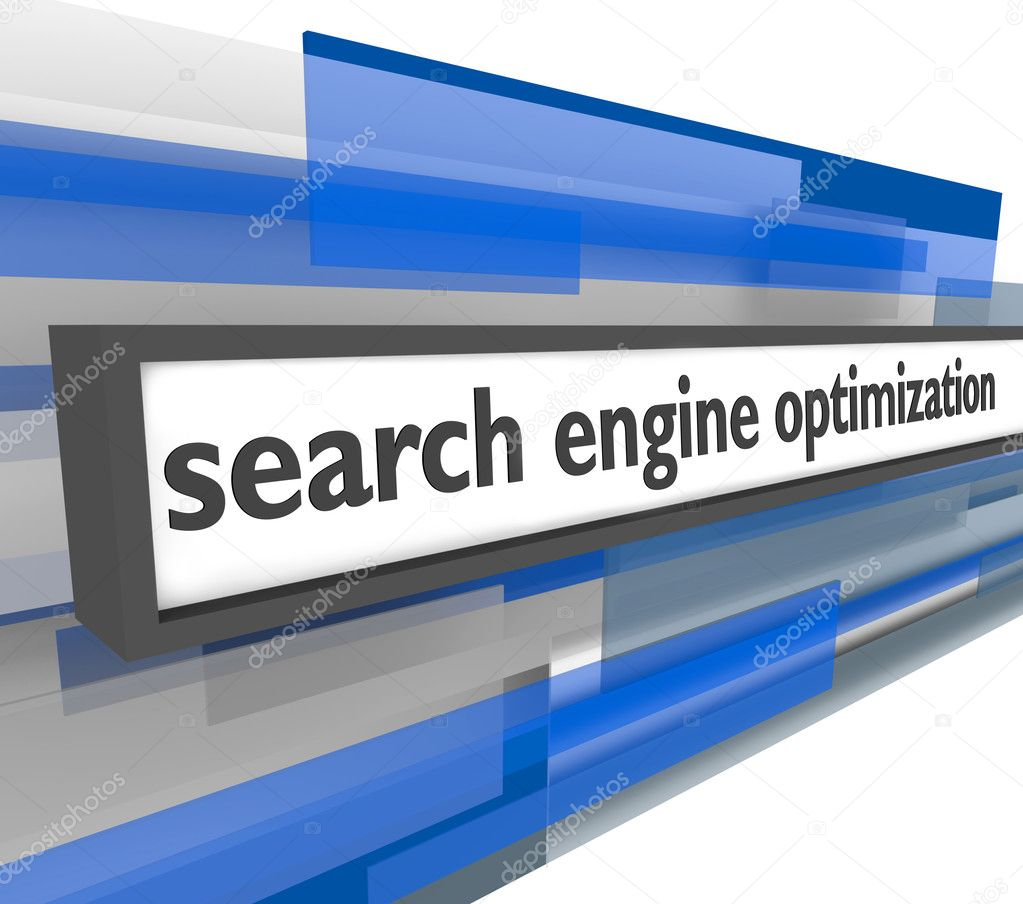 A web address bar featuring the phrase search engine optimization — Stock Photo #2039314