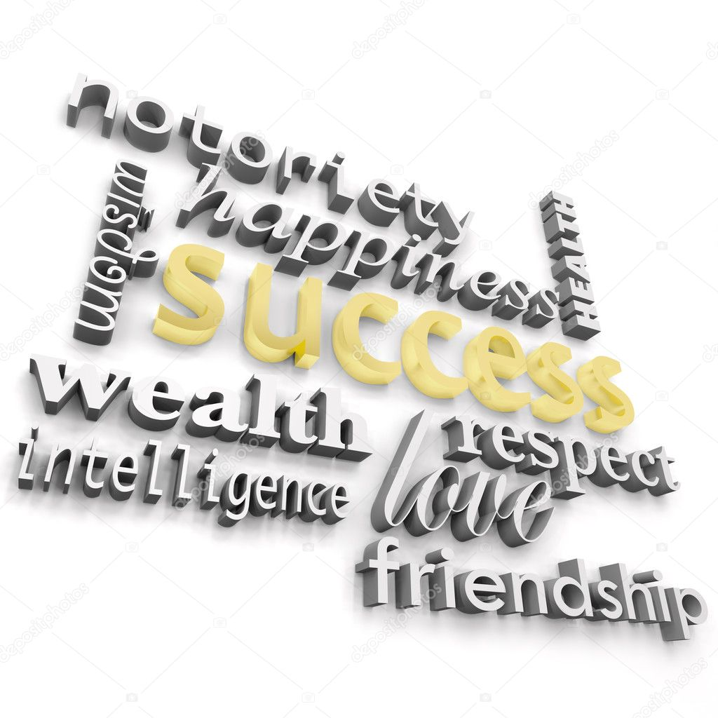 The word success and the many ways define it  Stock Photo #2039437