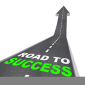 Road to Success - Up Arrow — Stock Photo