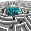 Find a Job - Business in Maze — Stock Photo