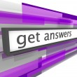Get Answers - Website Bar - Stock Photo
