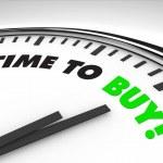 dags att köpa - klocka — Stockfoto