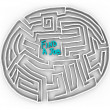 Find a Job - Circular Maze — Stock Photo