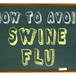 Stock Photo: How to Avoid Swine Flu - Words on Chalkboard