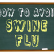 Royalty-Free Stock Photo: How to Avoid Swine Flu - Words on Chalkboard