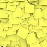 黄色粘滞便笺背景 — 图库照片