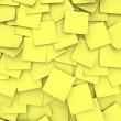 Yellow Sticky Note Background — Stock Photo