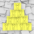 Royalty-Free Stock Photo: Cooperation Pyramid Drawn on Sticky Notes