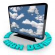 Stockfoto: HDTV Television - High Definition