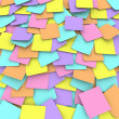 Foto Stock: Colored Sticky Note Background Collage