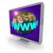 Computer Monitor - World Wide Web — Stock Photo