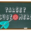 Target Customers - Words on Chalkboard — Stock Photo