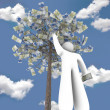 Royalty-Free Stock Photo: The Euro Tree - Making Money