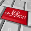 End Recession Key on Computer Keyboard - Stock Photo