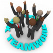 Royalty-Free Stock Photo: Teamwork - Team Members in Circle