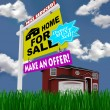 Home for Sale Sign - Desperate to Sell House - Stock Photo