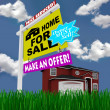 Home for Sale Sign - Desperate to Sell House — Stock Photo