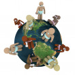 Babies Around the World - Global Population - Stock Photo
