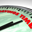 Savings Time - Clock - Stock Photo