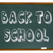 Back to School - Words on Chalkboard — Stock Photo