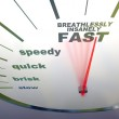 Speedometer - slow to insanely fast — Stock Photo