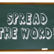 Stock Photo: Spread Word - Chalkboard