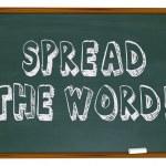 Spread the Word - Chalkboard — Stock Photo